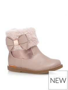 acd62be67d7 BARGAIN! - Baker by Ted Baker Toddler Girls Faux Fur Cuff Ankle Boot ...