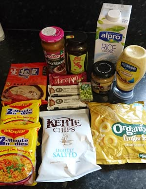 Approved Food - Lucky Dip pack contents