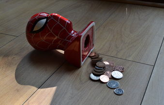 Money Box and Coins