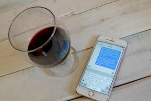 Text and Wine