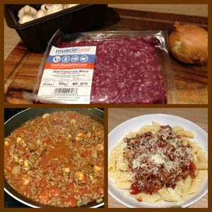 lean minced beef - before and after