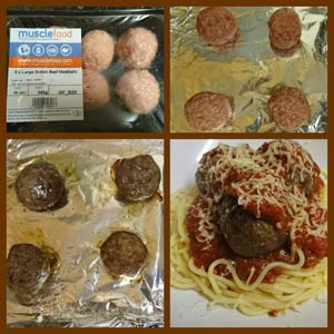 the meatballs - before and after