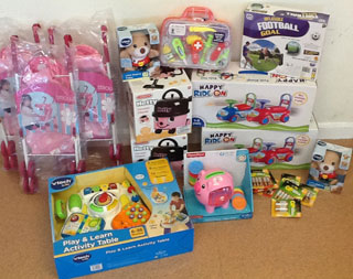 Toy Donation to Family Centre in Wales