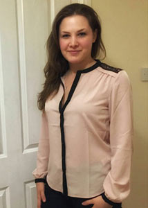 long sleeved blouse in pink