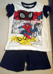 Navy Short Sleeve Spiderman Pjs
